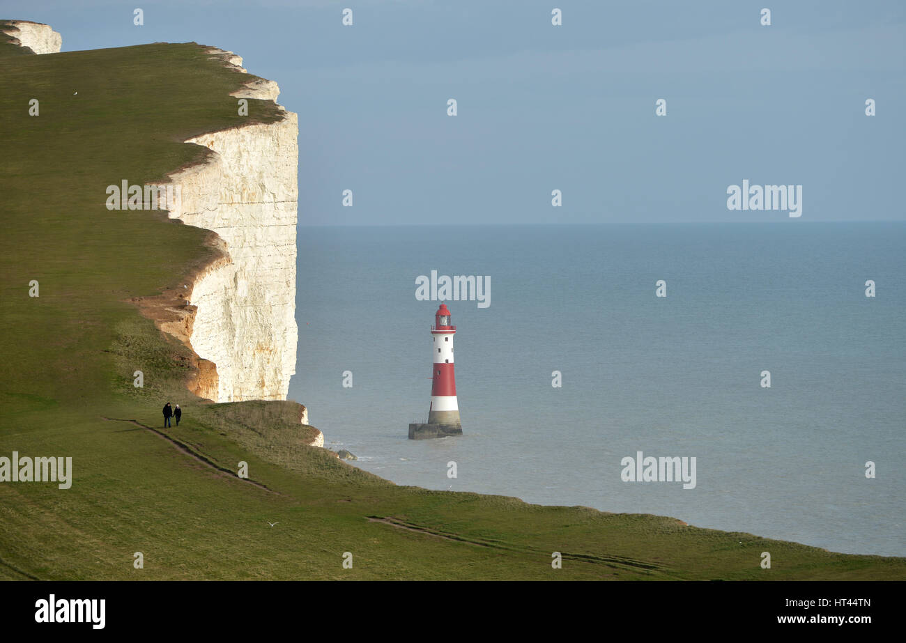 Beachy Head light house, near Eastbourne, East Sussex. UK - Stock Image