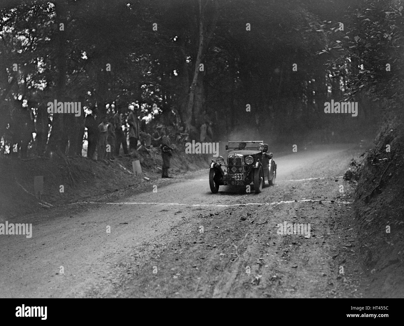 MG M type of GE Taylor taking part in a motoring trial, c1930s. Artist: Bill Brunell. - Stock Image
