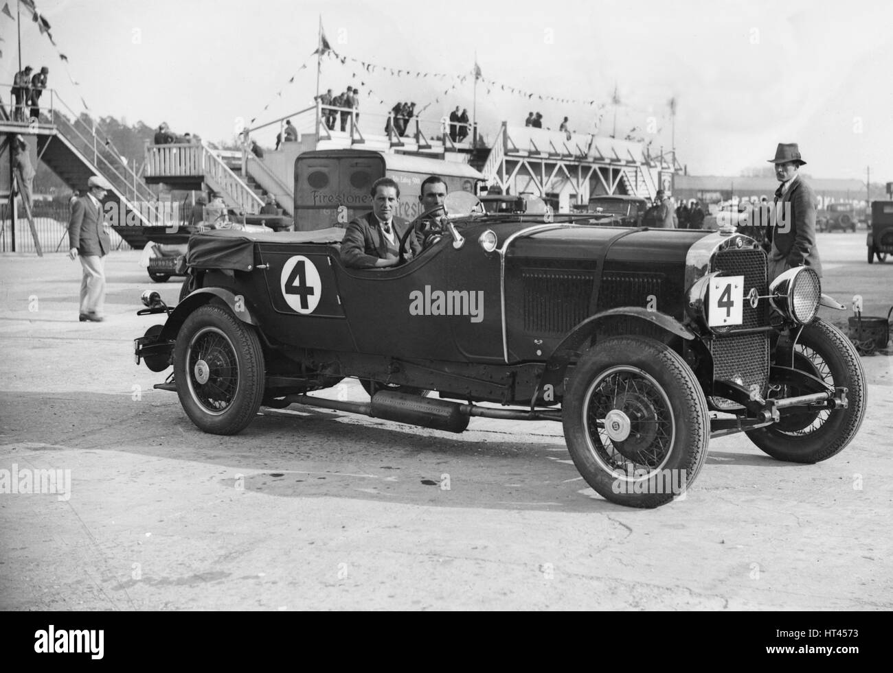 Studebaker of CW Johnstone and AES Walter at the JCC Double Twelve Race, Brooklands, Surrey, 1929. Artist: Bill - Stock Image
