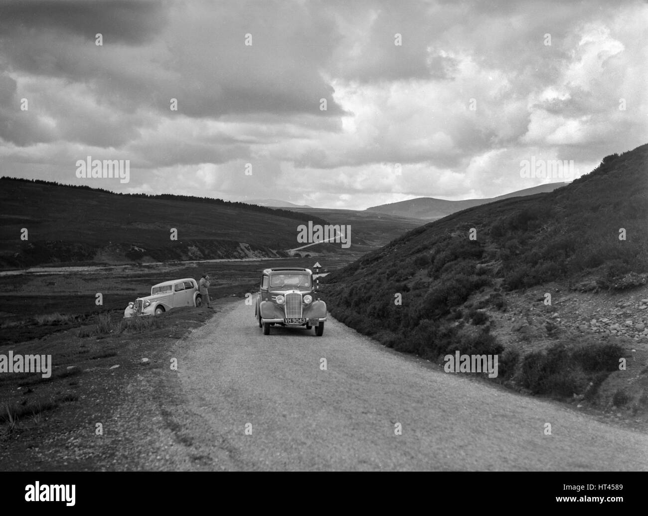 Vauxhall of Dr AT Halton competing in the RSAC Scottish Rally, 1936. Artist: Bill Brunell. - Stock Image