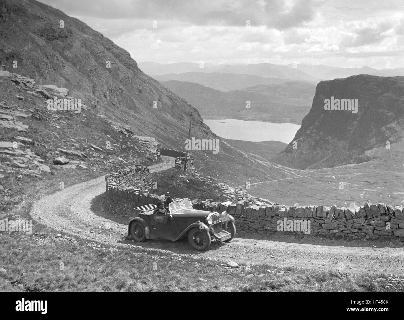 Singer of Miss O Bailey competing in the RSAC Scottish Rally, 1936. Artist: Bill Brunell. - Stock Image