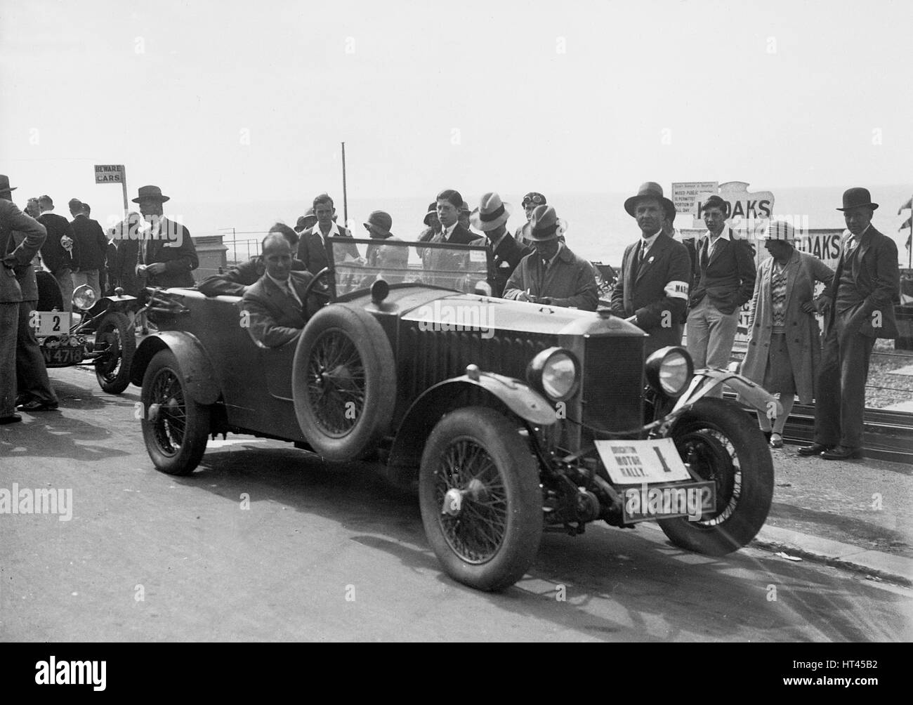 Invicta of DM Healey at the B&HMC Brighton Motor Rally, 1930. Artist: Bill Brunell. - Stock Image