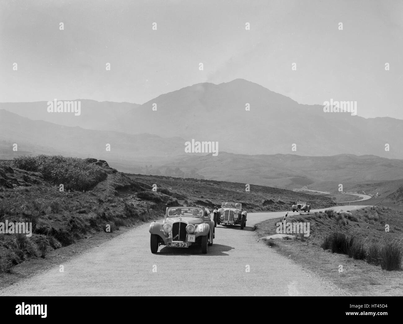 Atalanta of Joan Brotchie competing in the RSAC Scottish Rally, 1939. Artist: Bill Brunell. - Stock Image