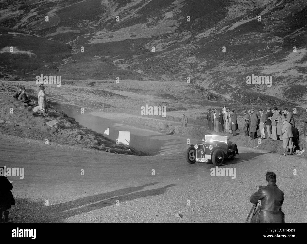 Home-built Cowal 2-seater of JW Robertson at the RSAC Scottish Rally, Devil's Elbow, Glenshee, 1934. Artist: - Stock Image