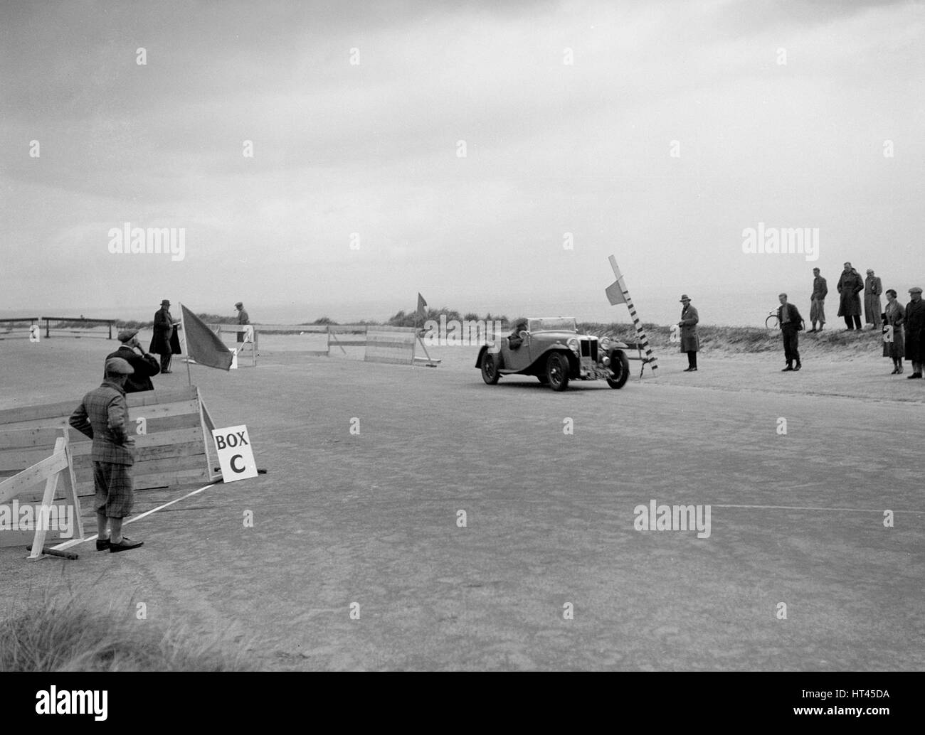 MG Magnette of CS Grant competing in the RSAC Scottish Rally, 1934. Artist: Bill Brunell. - Stock Image