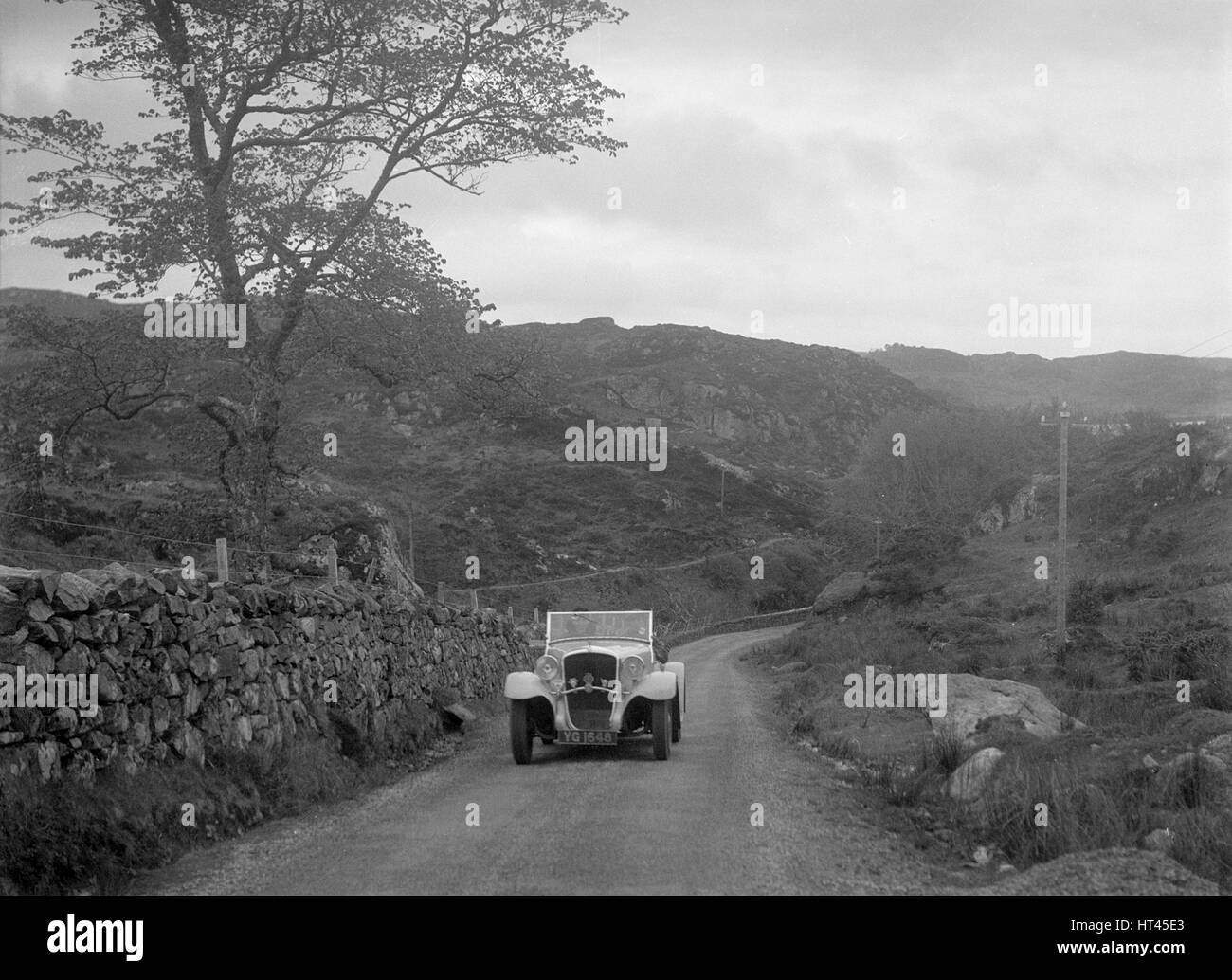 Essex Terraplane of J Esson Gibson competing in the RSAC Scottish Rally, 1934. Artist: Bill Brunell. - Stock Image