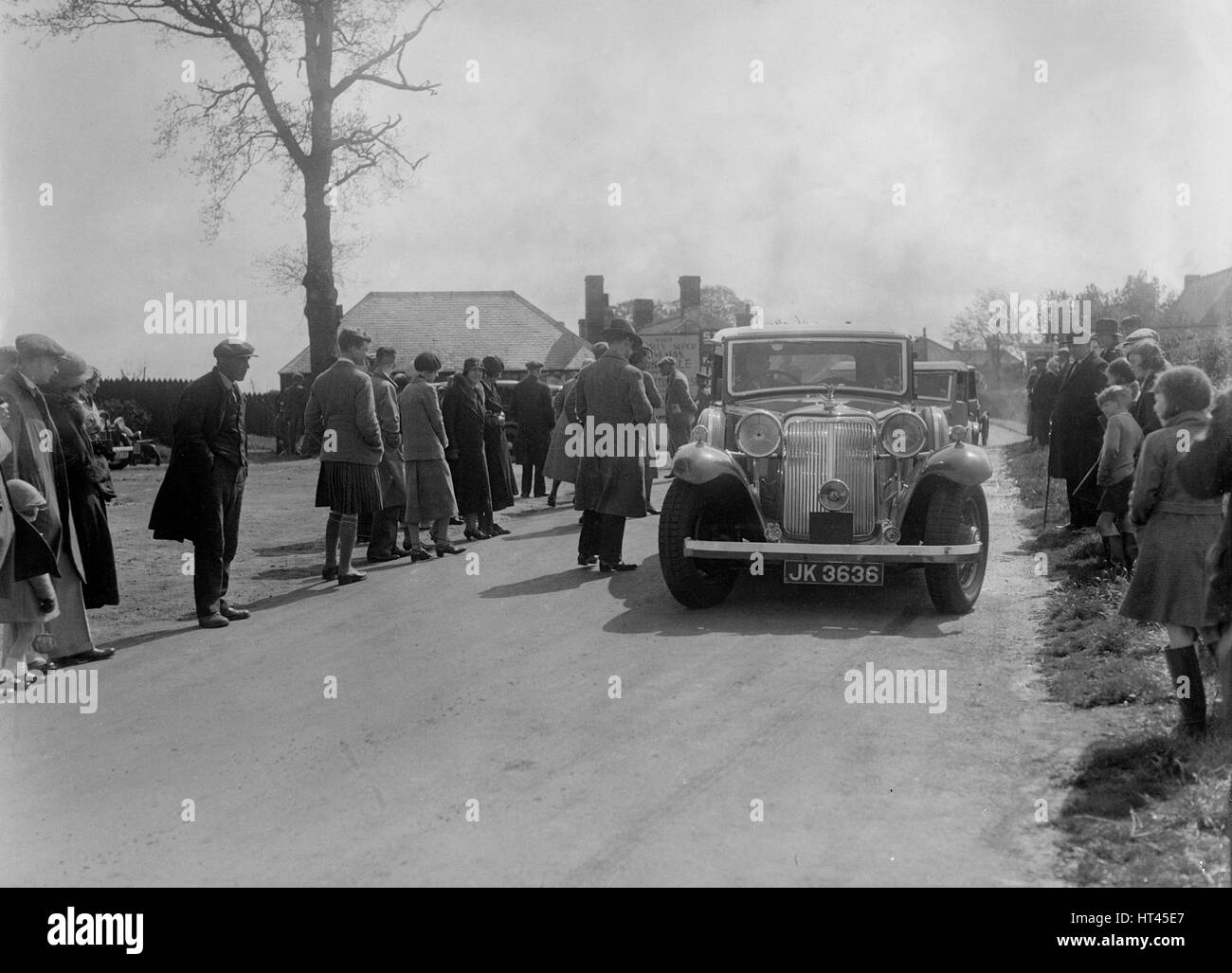 Armstrong-Siddeley Special Burlington sports saloon of AP Watson at the RSAC Scottish Rally, 1934. Artist: Bill - Stock Image