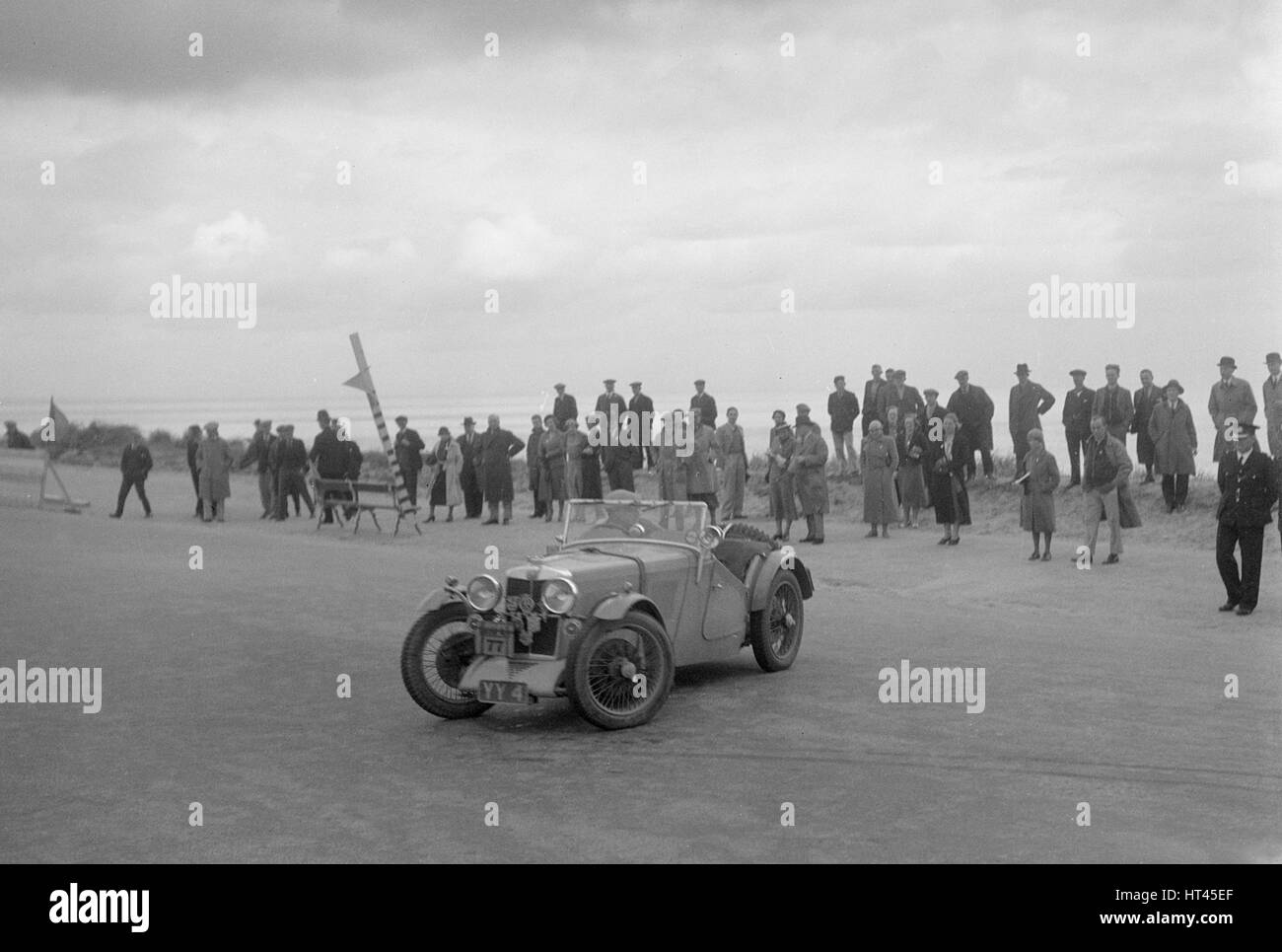MG J2 of AWF Smith competing in the RSAC Scottish Rally, 1934. Artist: Bill Brunell. - Stock Image