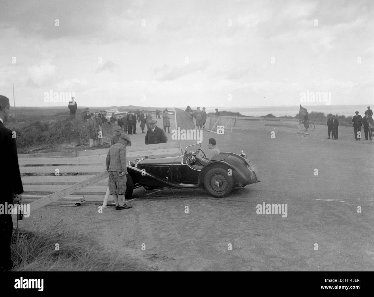 Riley competing in the RSAC Scottish Rally, 1934. Artist: Bill Brunell. - Stock Image