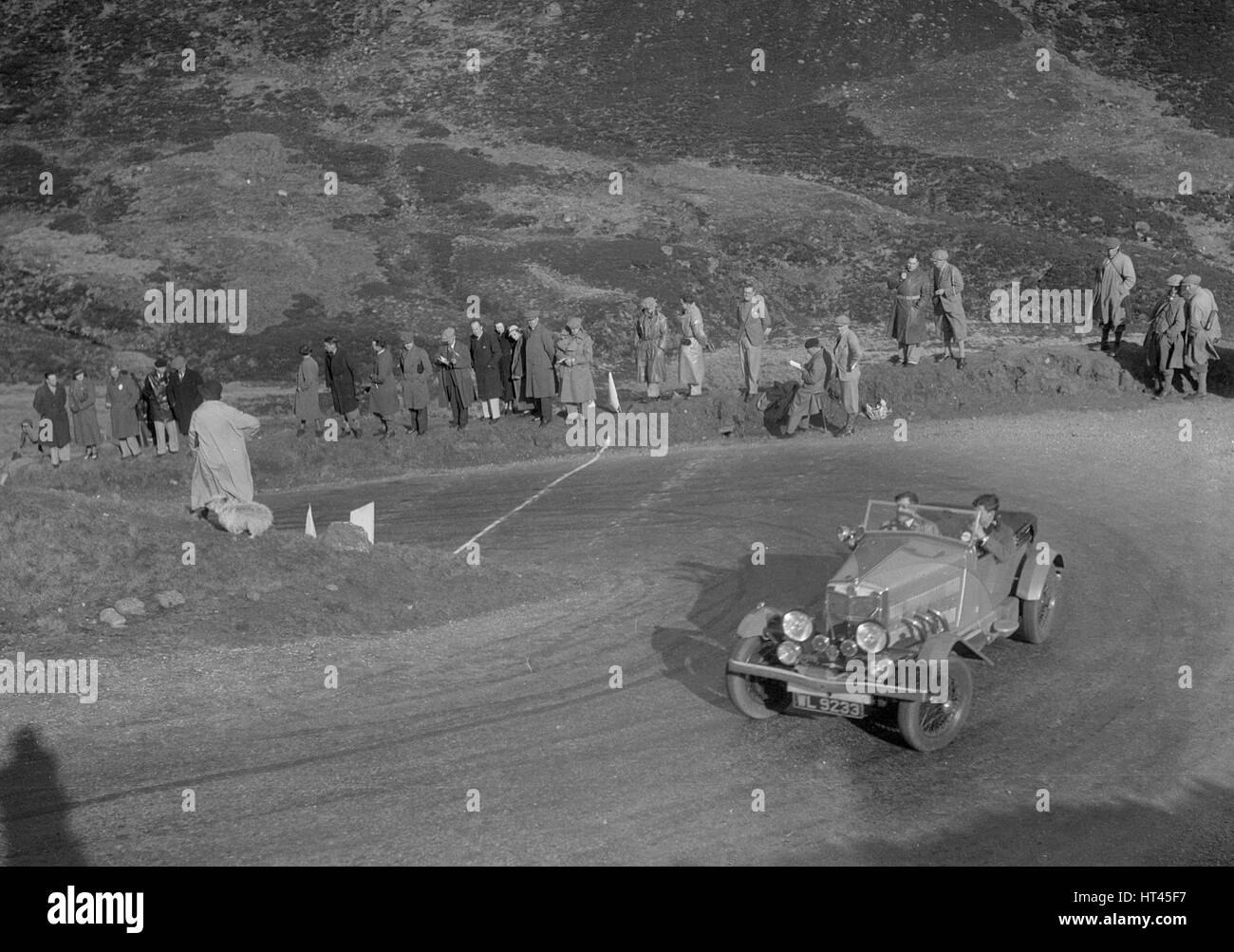 MG 18/80 open 4-seater tourer of GM Cavendish, RSAC Scottish Rally, Devil's Elbow, Glenshee, 1934. Artist: Bill - Stock Image