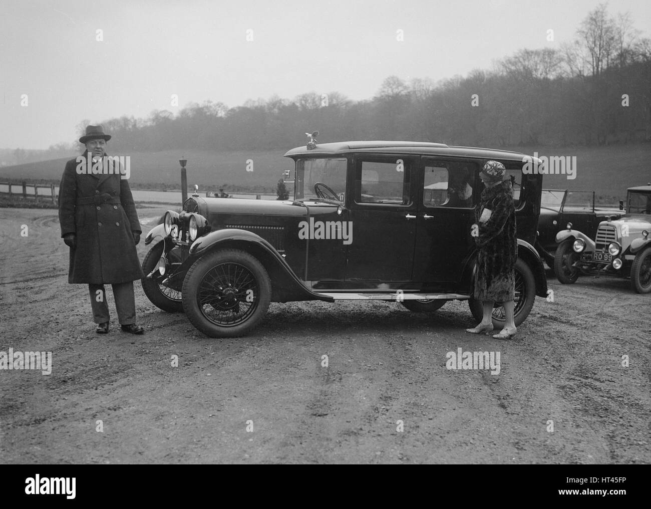 JKW Baines of the JCC with an Austin, 1930s. Artist: Bill Brunell. - Stock Image