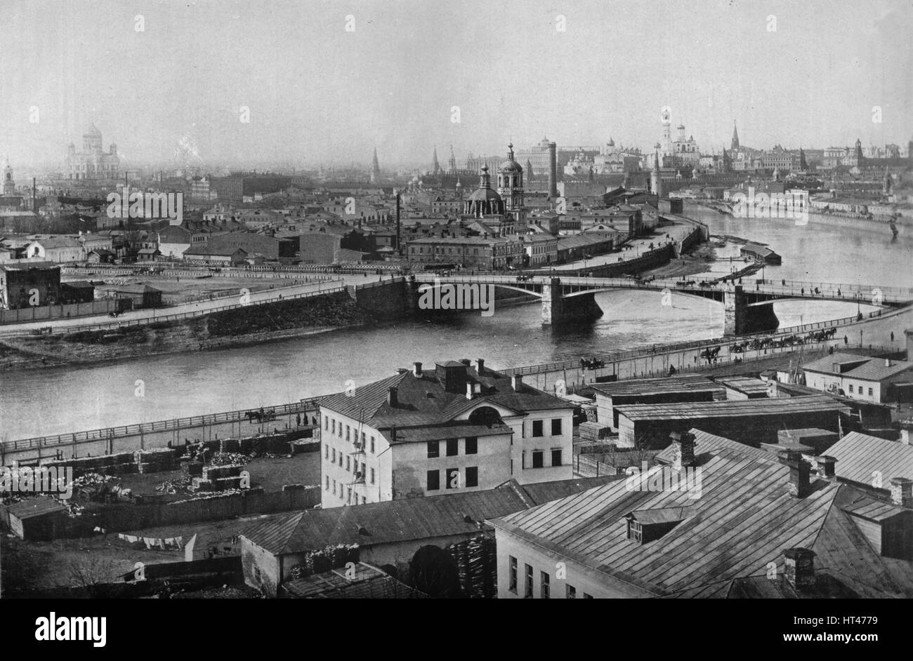 'A general view of Moscow, showing the Kremlin', 1915. Artist: Unknown. Stock Photo
