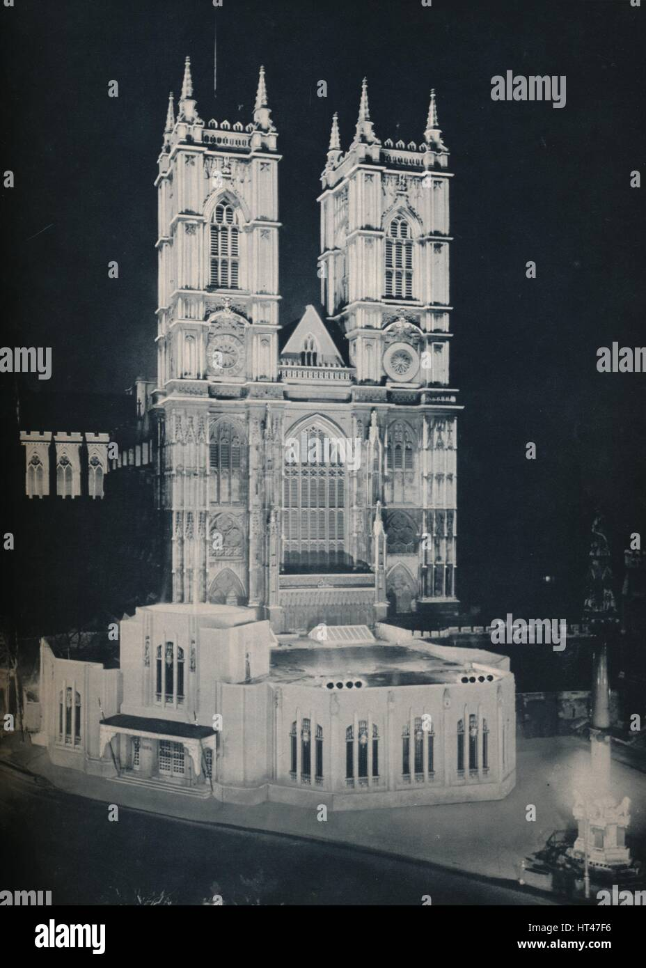 'The Abbey Church of St. Peter, Westminster; Showing the Temporary Annexe', 1937. Artist: Unknown. - Stock Image