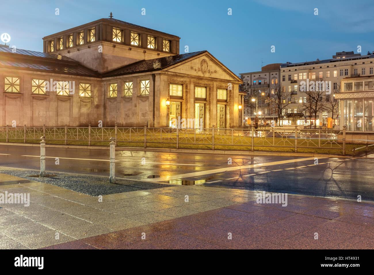 Wittenbergplatz (Wittenberg Square) is a large square in western Berlin at the end of Tauentzienstrasse.Wittenbergplatz - Stock Image