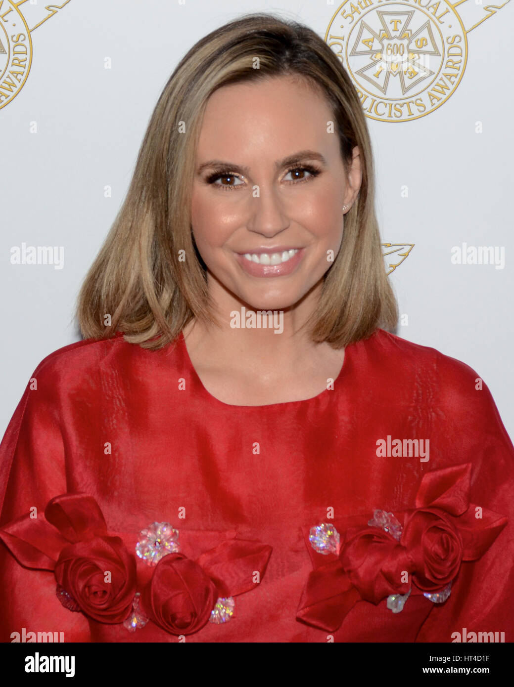 Keltie Knight arrives at the 54th Annual International Cinematographers Guild Publicists Awards on February 24, - Stock Image