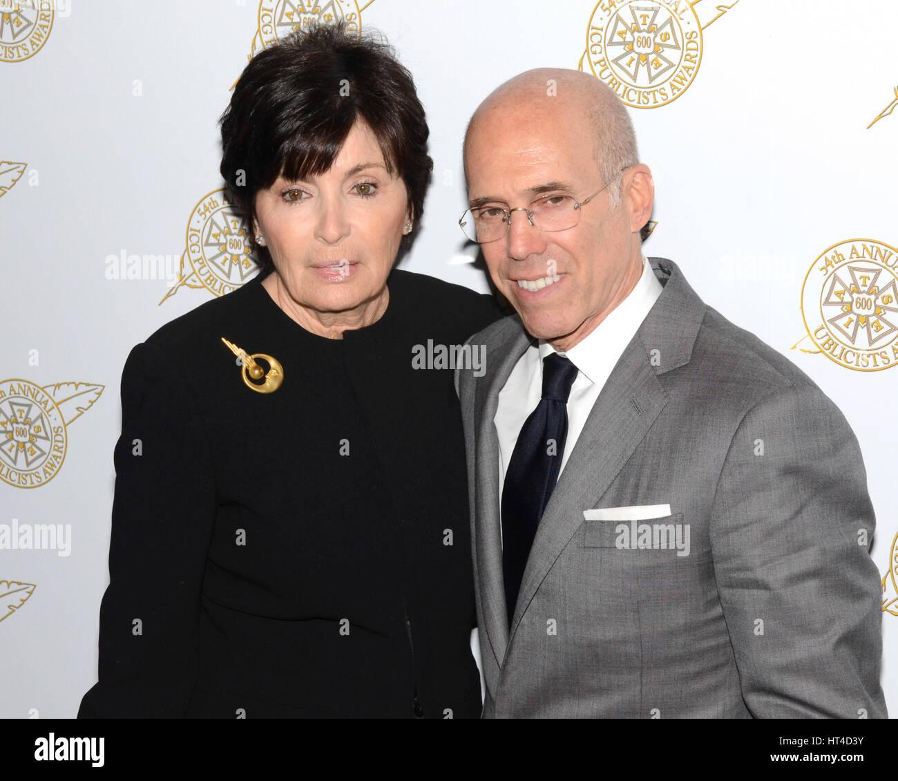 Marilyn Katzenberg and Jeffrey Katzenberg arrives at the 54th Annual International Cinematographers Guild Publicists Stock Photo