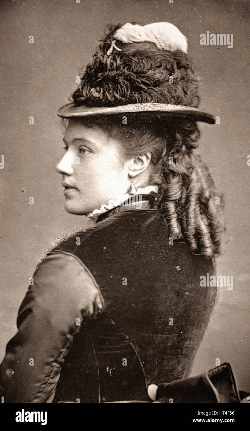 18.3.1851in Peterborough-1932 iri Rose Coghlansche Schauspielerin. 1871 nach New York. Saturday Programme Supplement. - Stock Image