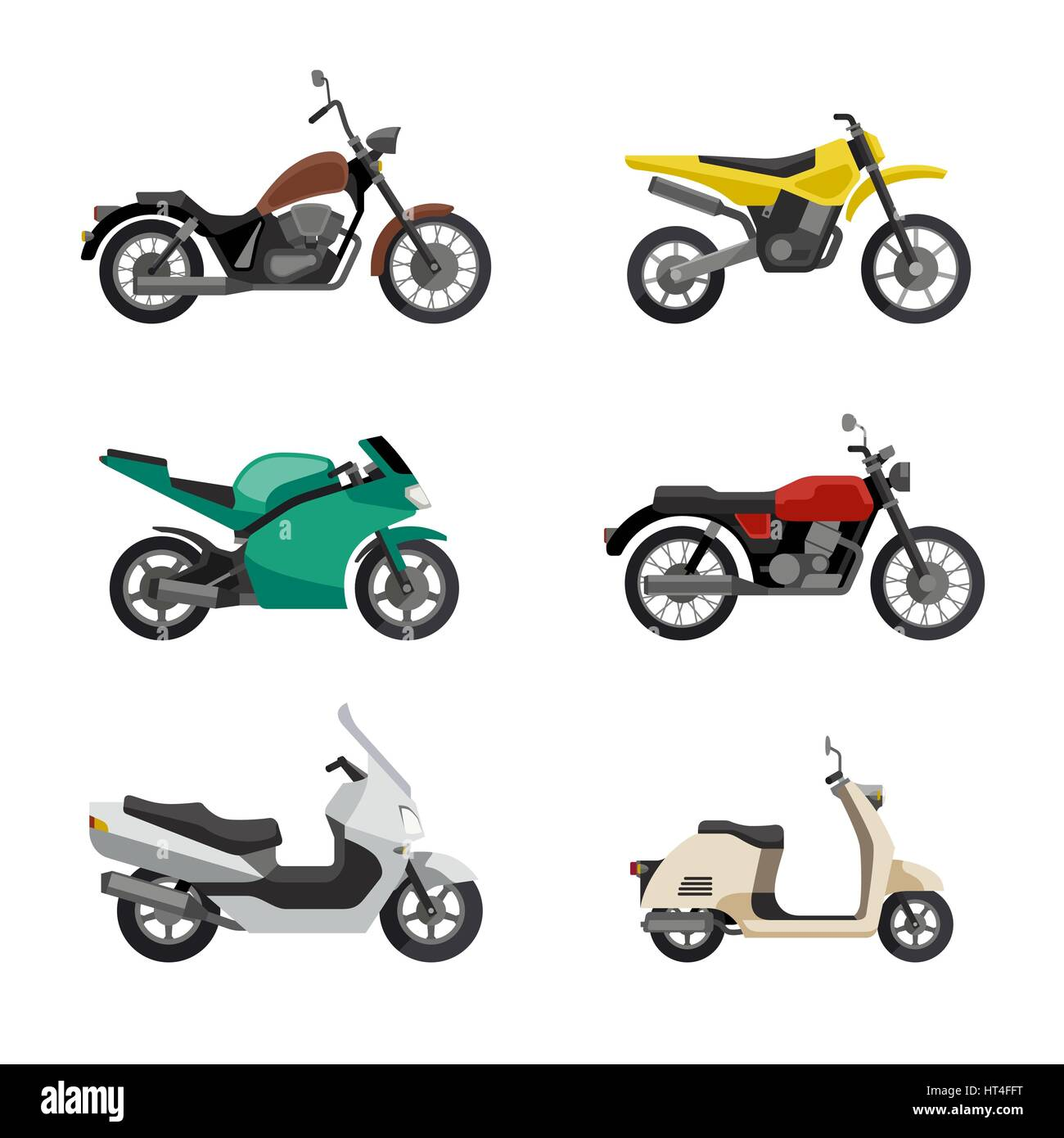 Motorcycles and scooters - Stock Image