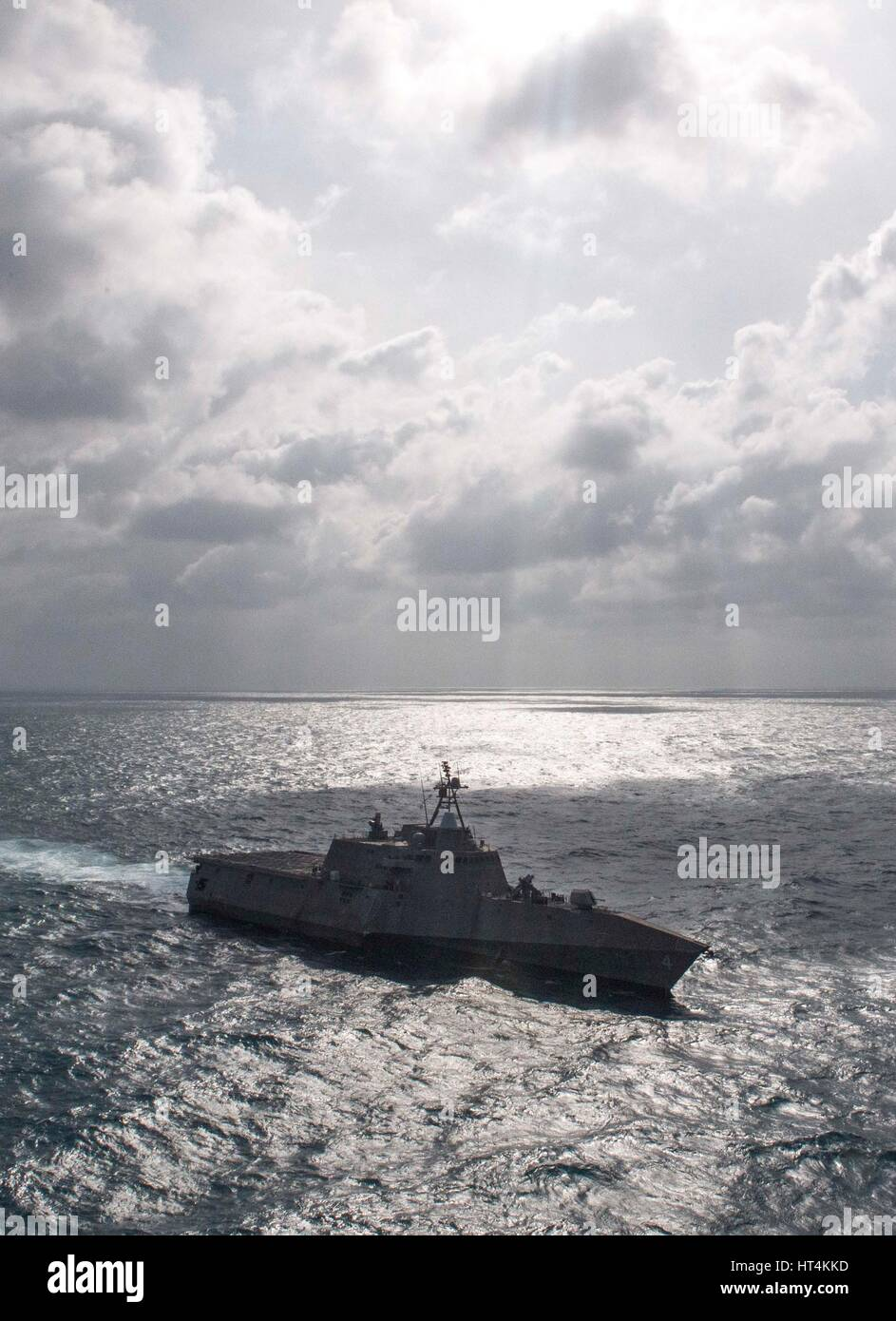 The USN Independence-class littoral combat ship USS Coronado steams underway February 12, 2017 in the South China - Stock Image