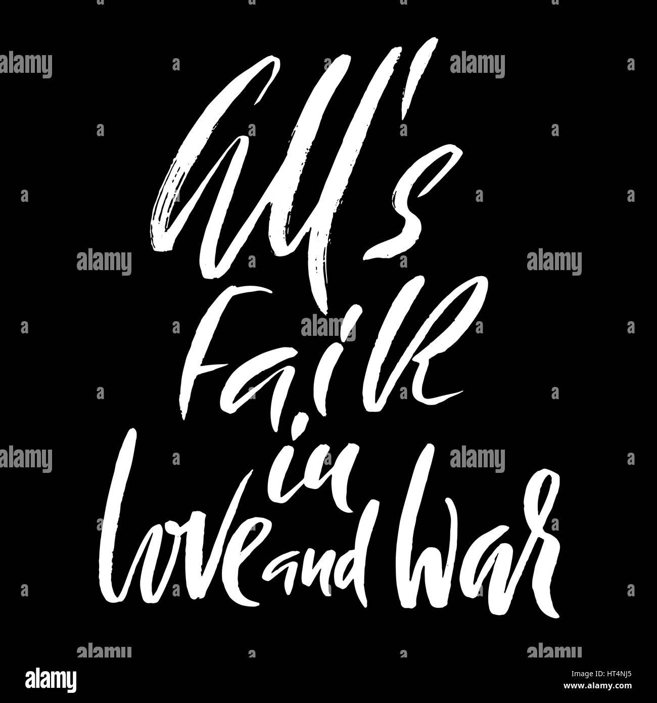 All really fair love and war