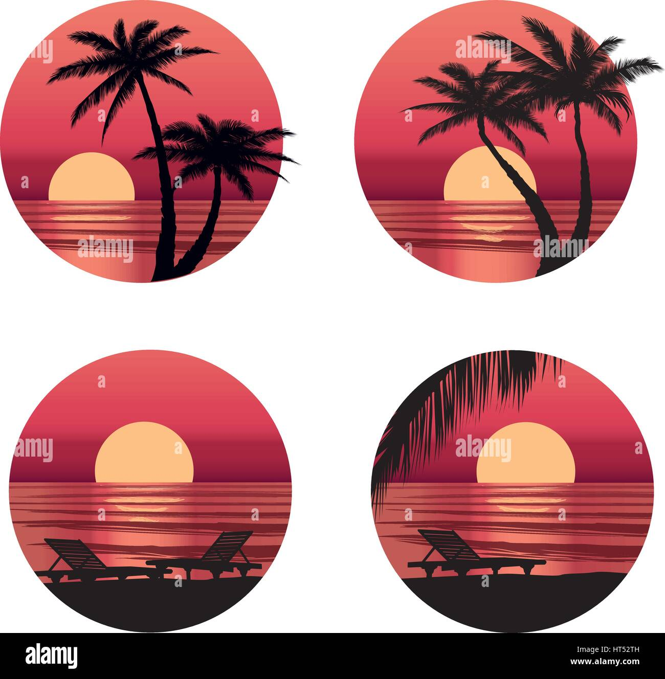 Summer holidays background. Seaside View. Beach resort wallpaper - Stock Vector