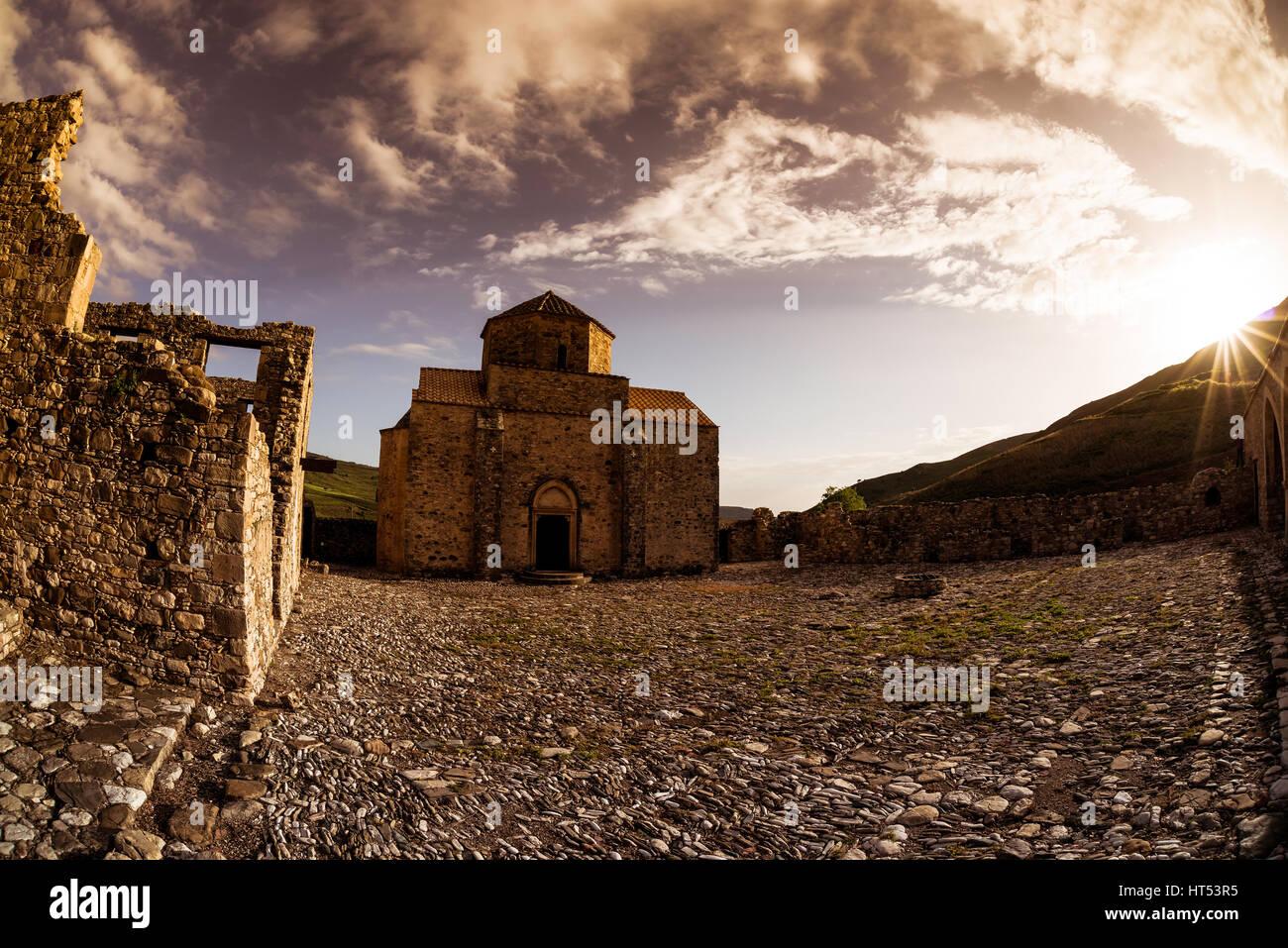 Panagia tou Sinti Monastery at sunset. Paphos District. Cyprus Stock Photo