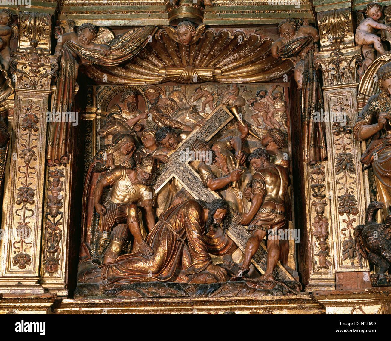 Damia Forment (1480-1540). Spanish sculptor. Cathedral of Santo Domingo de la Calzada. Main Altarpiece, 1537-40. - Stock Image