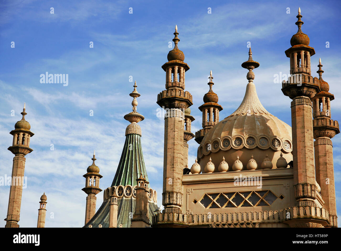 Royal Pavilion Brighton Sussex UK - Stock Image