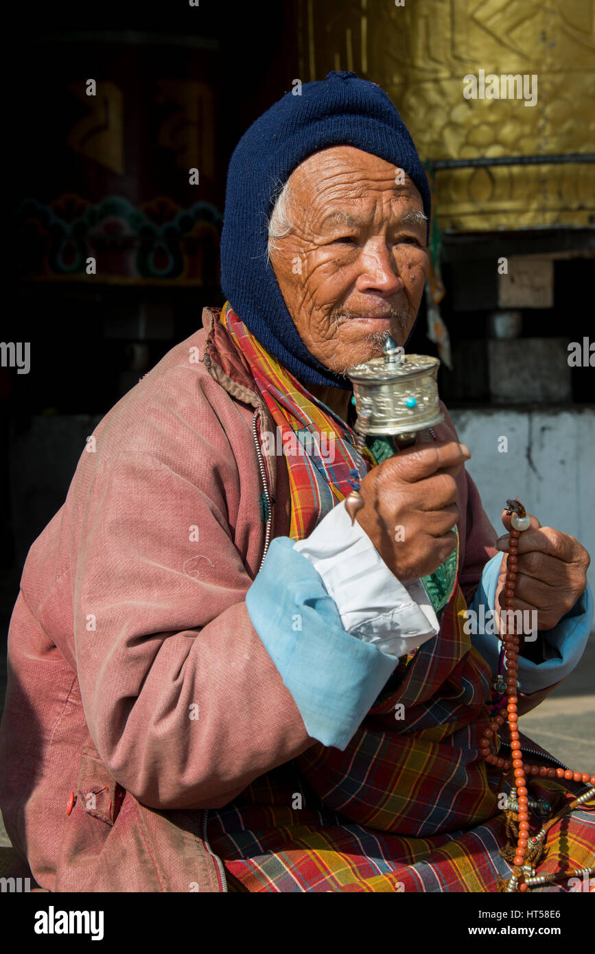 Bhutan, Thimphu  National Memorial Chorten, memorial to the