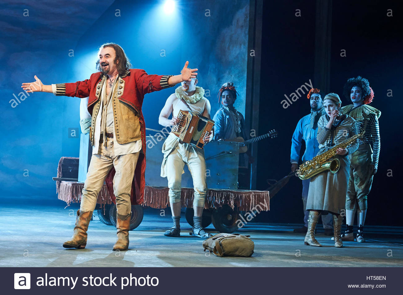 Rosencrantz and Guildenstern by Tom Stoppard, directed by David Leveaux. With David Haig as The Player. Opens at - Stock Image