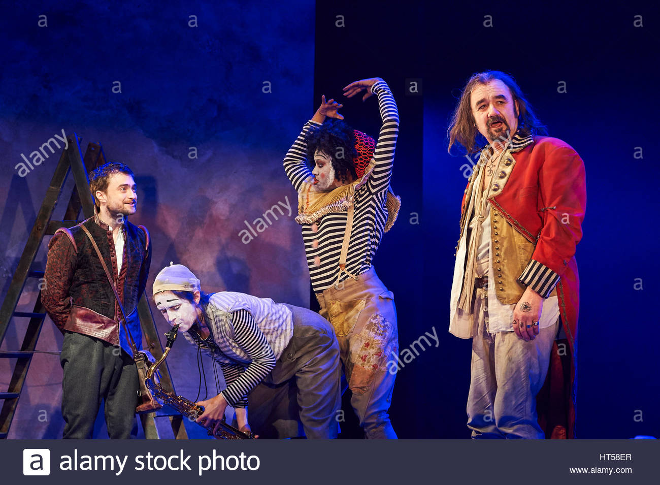 Rosencrantz and Guildenstern by Tom Stoppard, directed by David Leveaux. With Daniel Radcliffe as Rosencrantz, David - Stock Image
