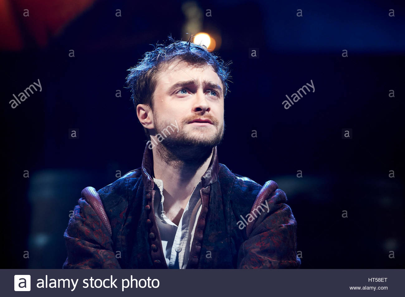 Rosencrantz and Guildenstern by Tom Stoppard, directed by David Leveaux. With Daniel Radcliffe as Rosencrantz. Opens - Stock Image