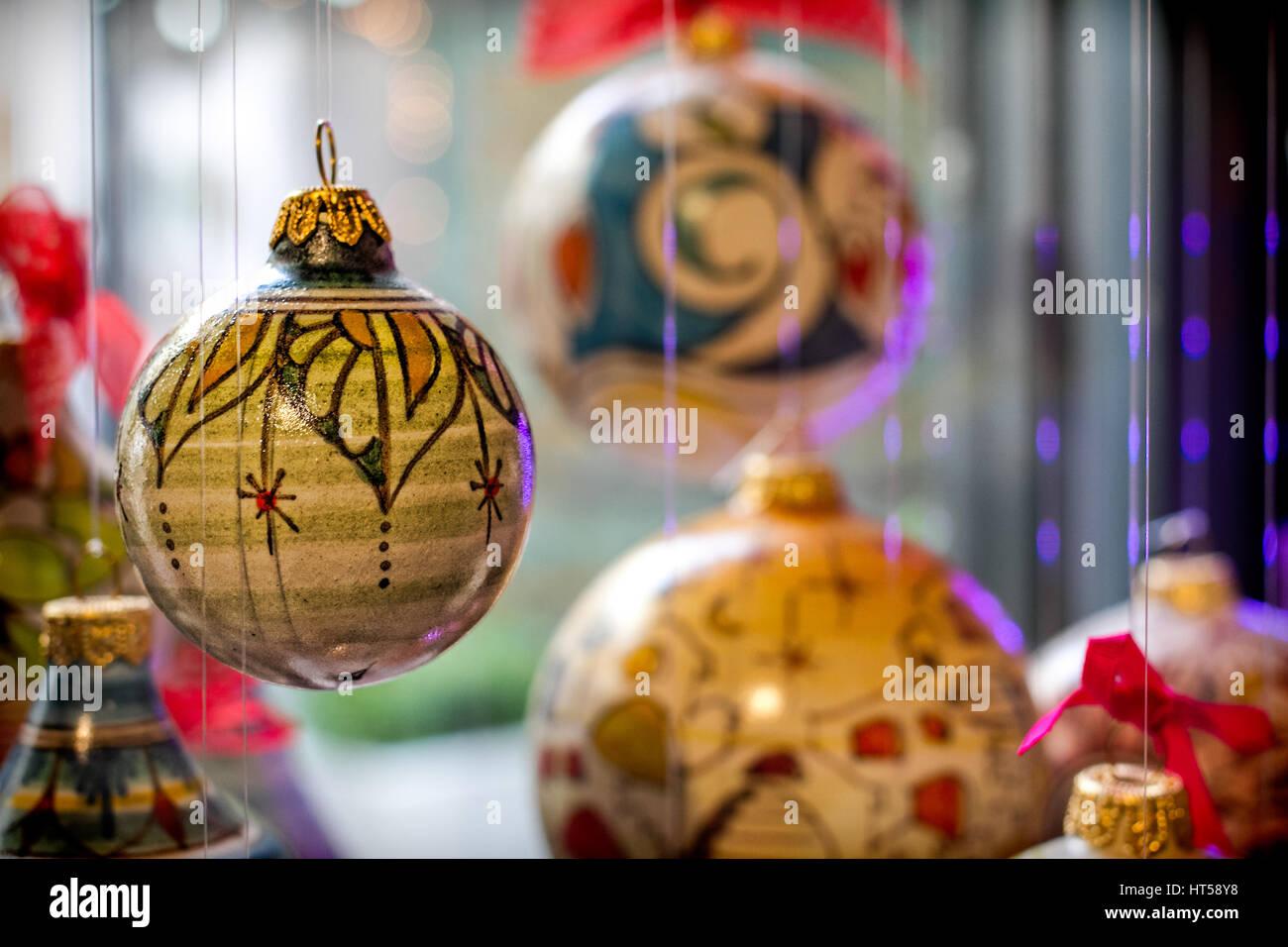Traditional Christmas ornaments found in Vietri sul Mare, Italy. Stock Photo