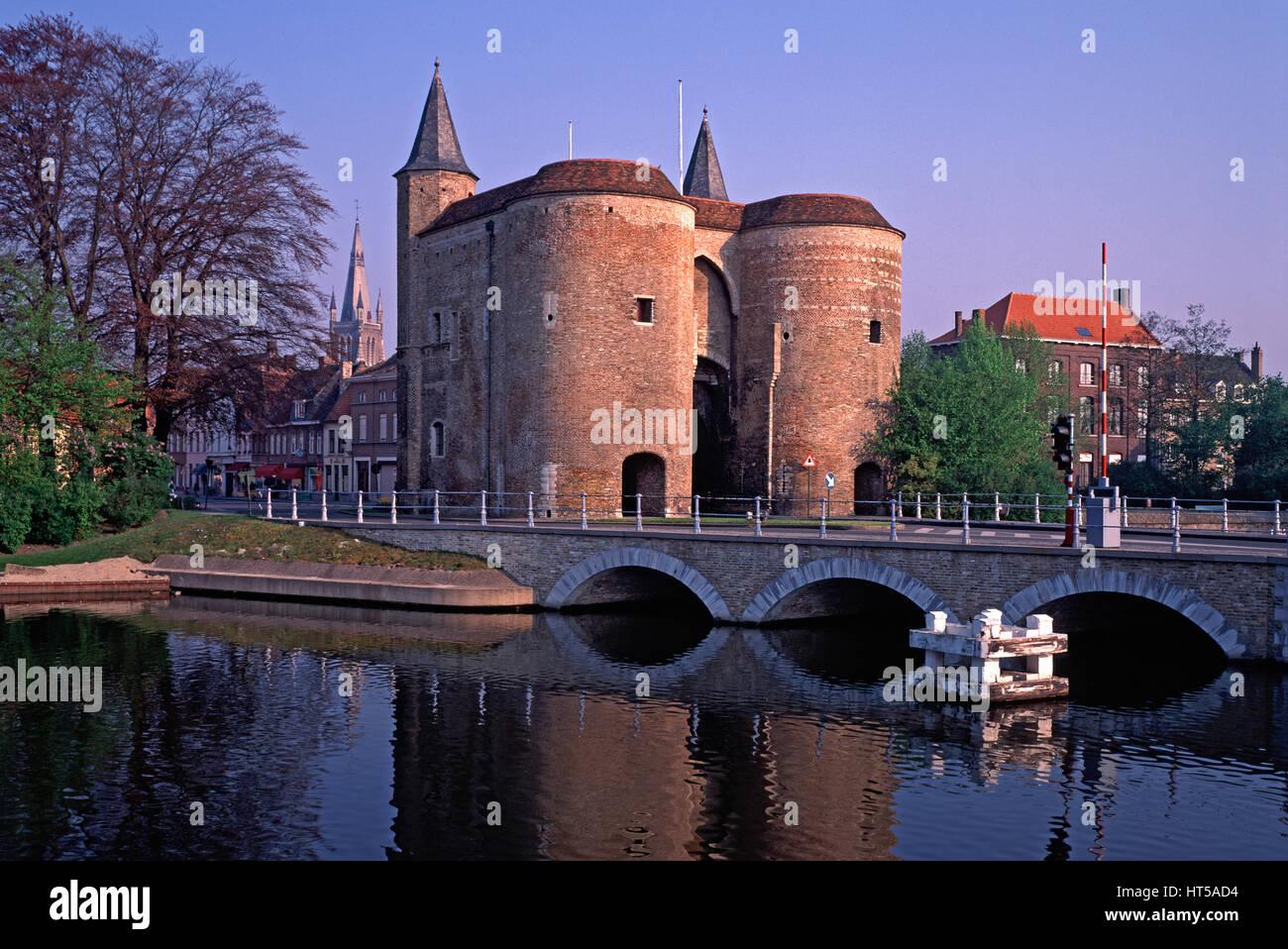 Gentpoort, Bruges, Belgium. Stock Photo