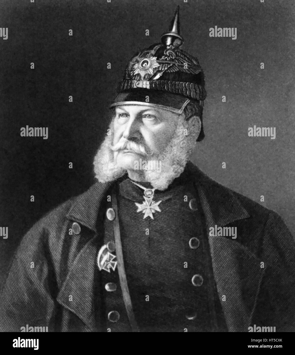 WILLIAM 1, Emperor of Germany (1797-1888) - Stock Image
