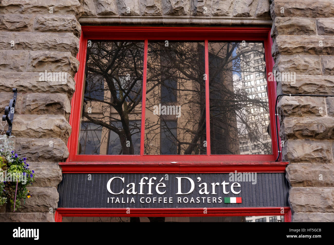 Caffe D'arte Italian Coffee Roasters coffee shop in the Pioneer Square district,  Seattle, Washington, USA - Stock Image