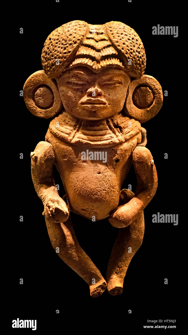 Clay figure 250 - 700 Mexico Teotihuacan - The Mayans - Maya Mesoamerican - Pre Columbian civilization  Central - Stock Image