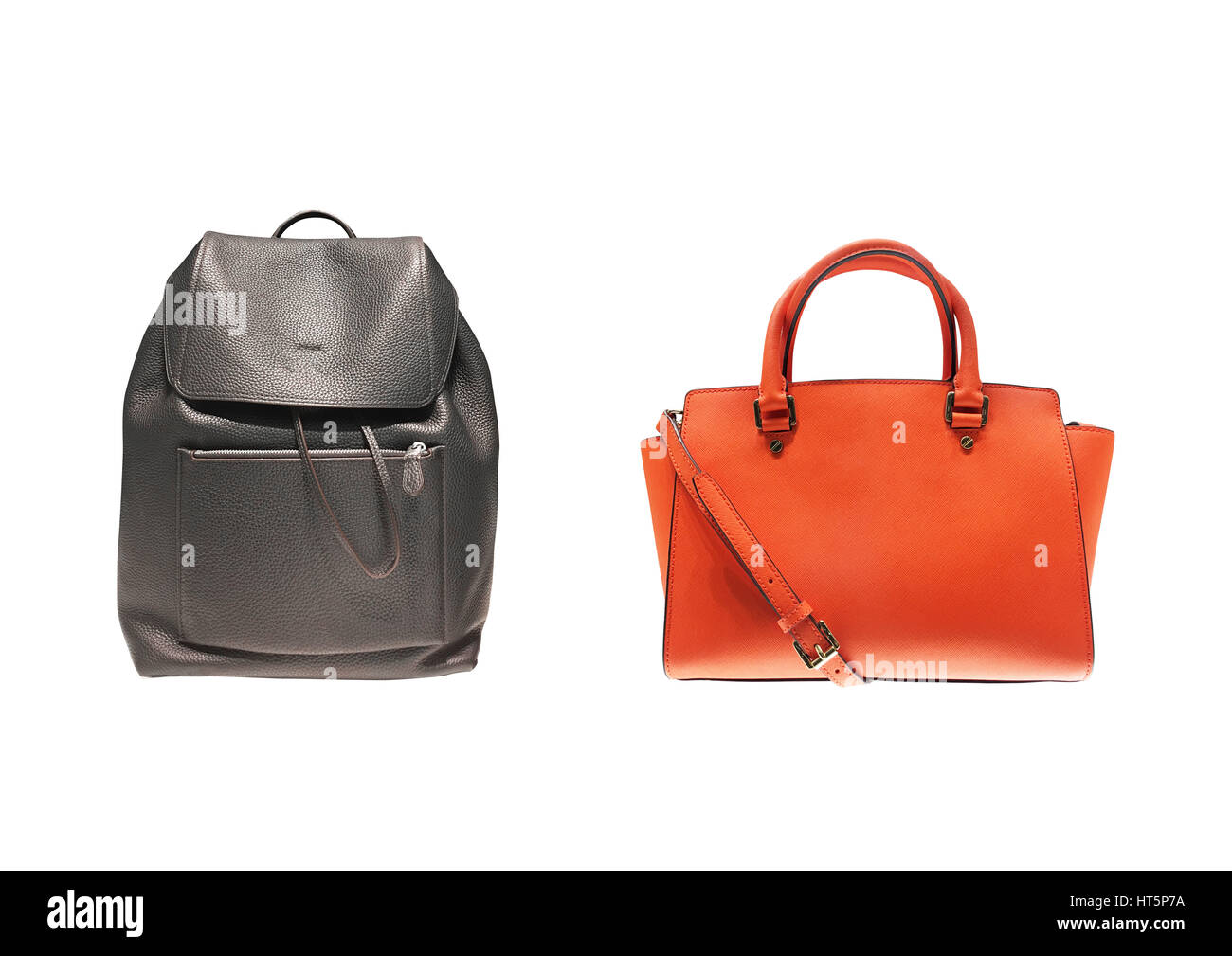 men's accessories lad women accessories on white background - Stock Image