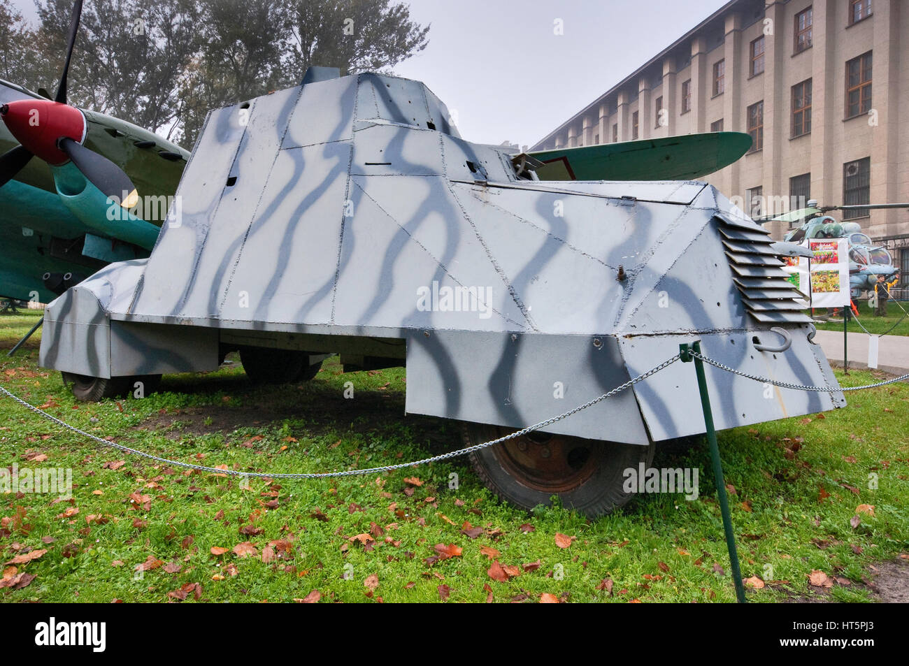 Kubus armored car, Polish WWII vehicle, used in 1944 Warsaw Uprising, Polish Army Museum in Warsaw, Poland - Stock Image