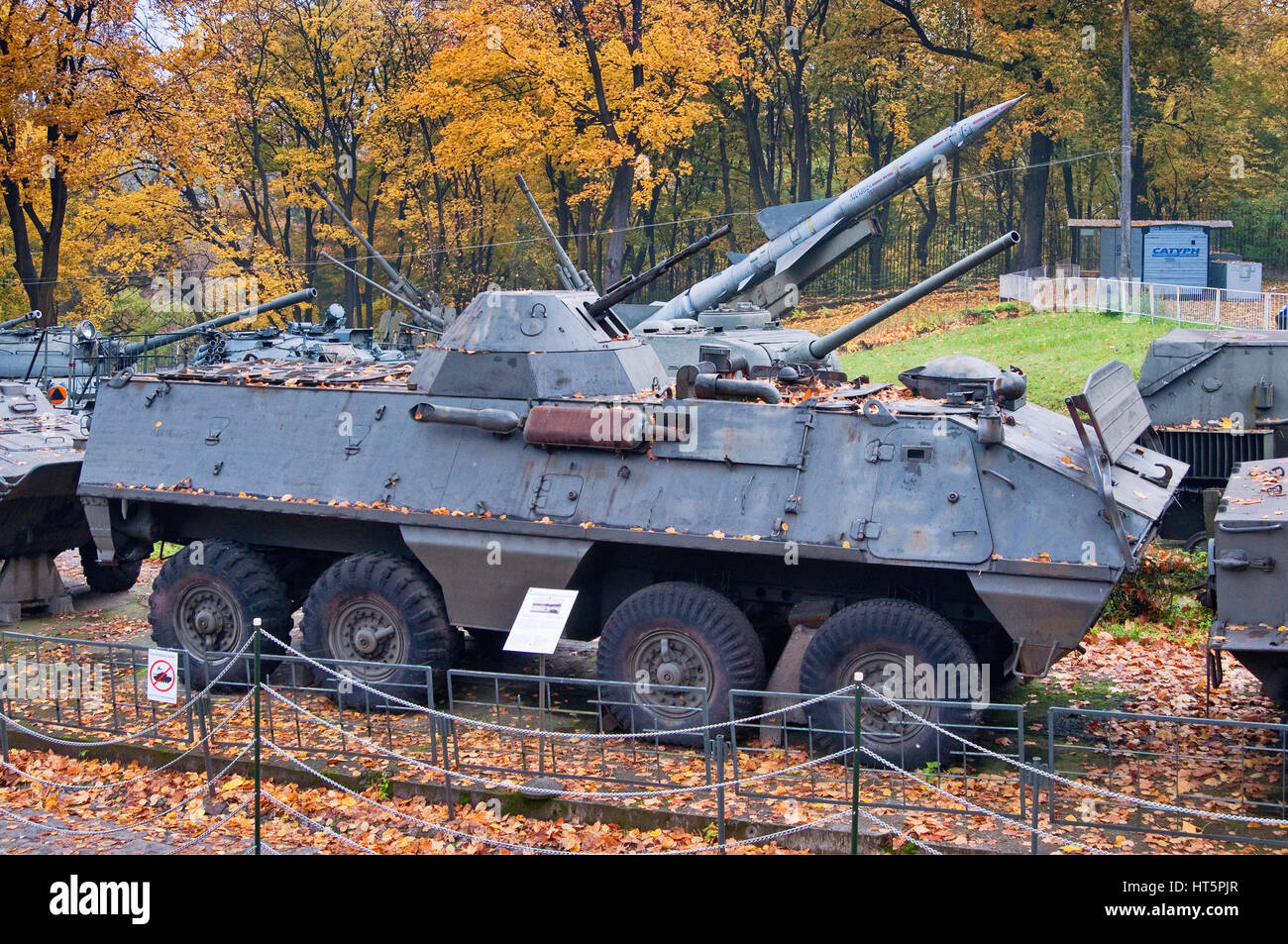 OT-64 SKOT-2A, wheeled amphibious armored personnel carrier (8x8), developed jointly by Poland and Czechoslovakia, - Stock Image