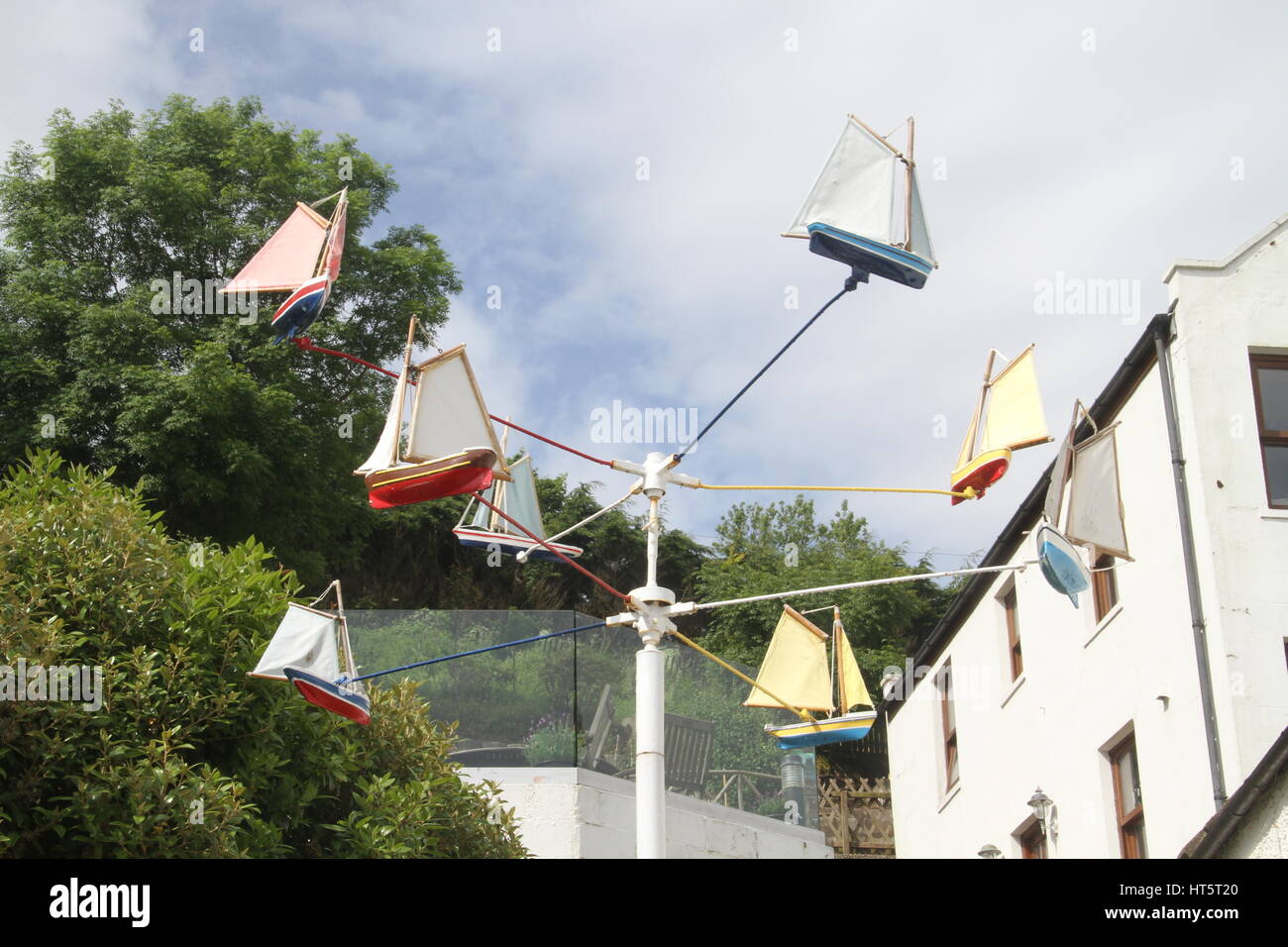 Unusual wind rotation device, Stonehaven, Aberdeenshire - Stock Image