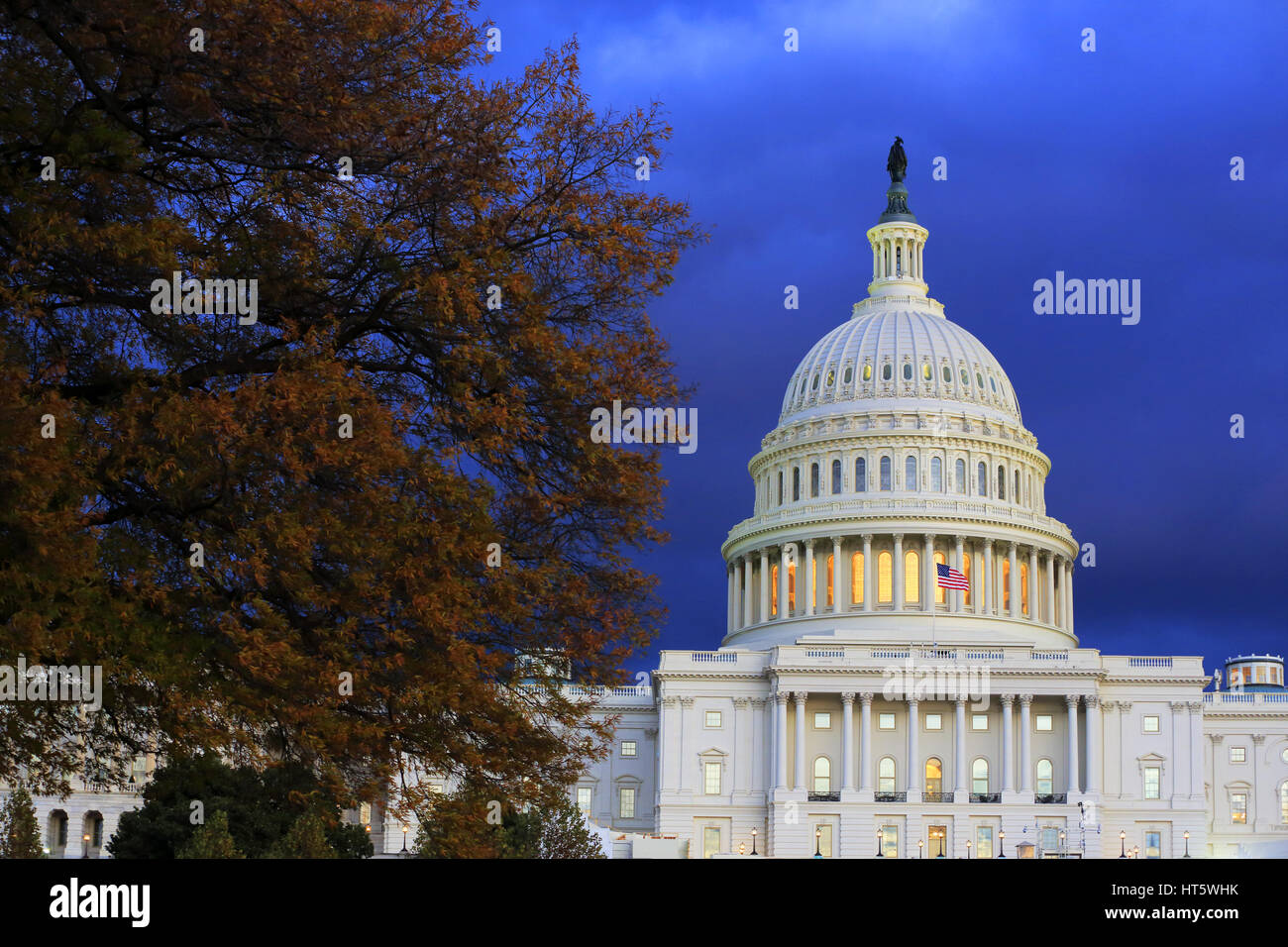 U.S.Capitol Building in twilight time.Washington,D.C.USA - Stock Image