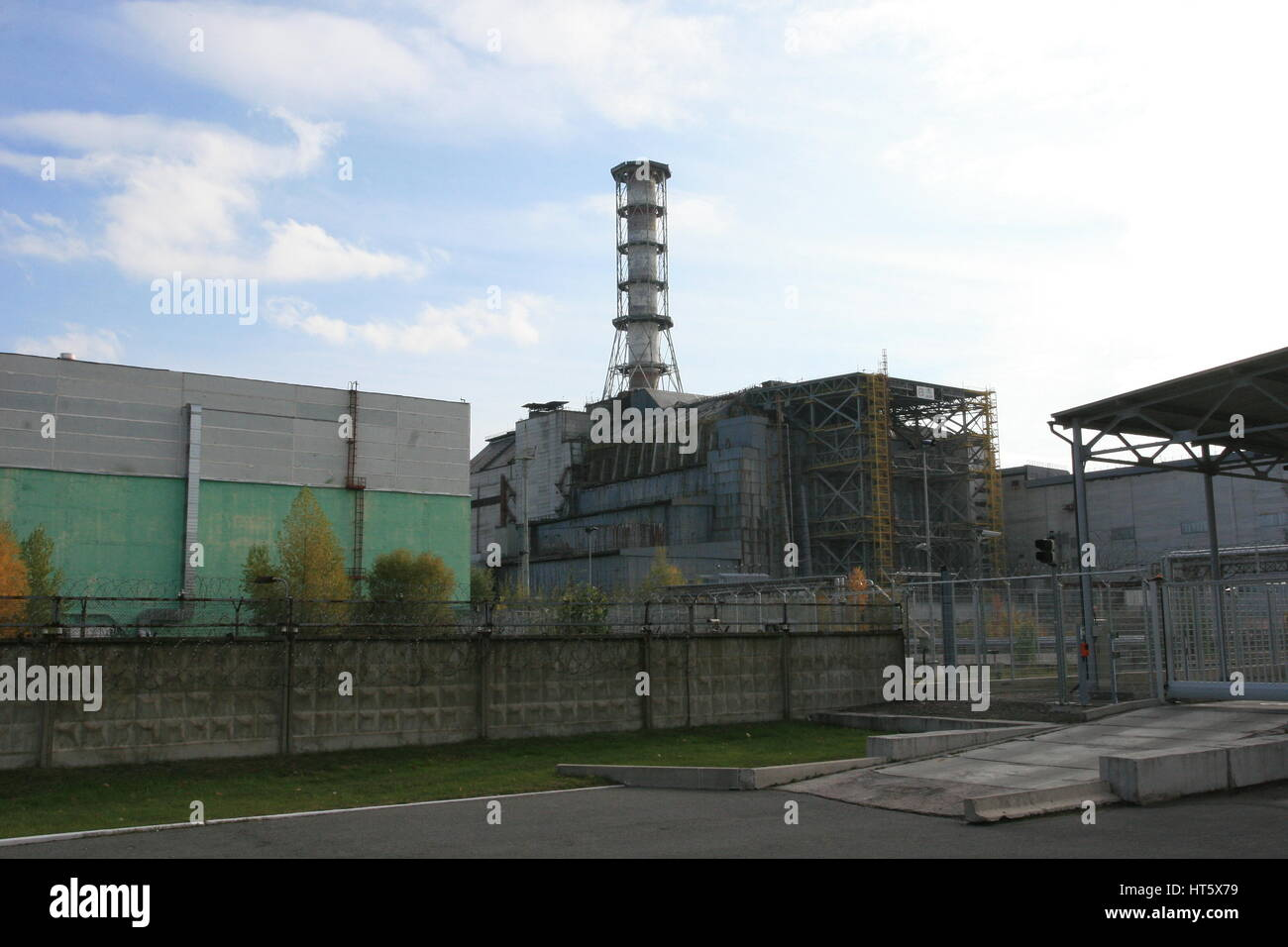 exploded reactor 4 from Chernobyl power plant - Stock Image