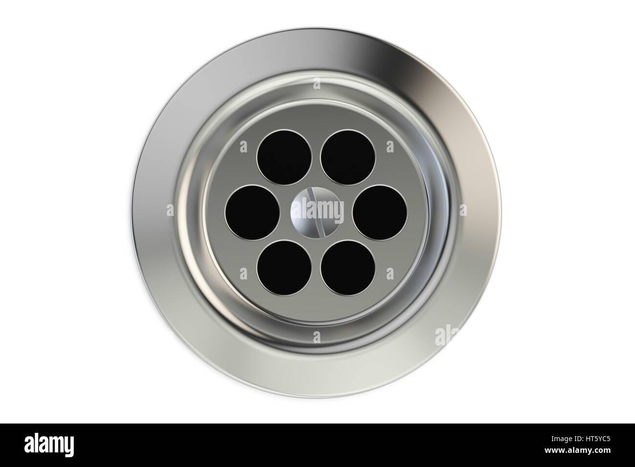 Top view of kitchen sink drain round plug hole 3d rendering stock top view of kitchen sink drain round plug hole 3d rendering workwithnaturefo
