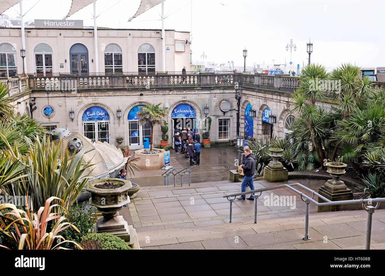 The Sealife Centre in Brighton is the worlds oldest aquarium and was built in 1872 by Eugenius Birch - Stock Image