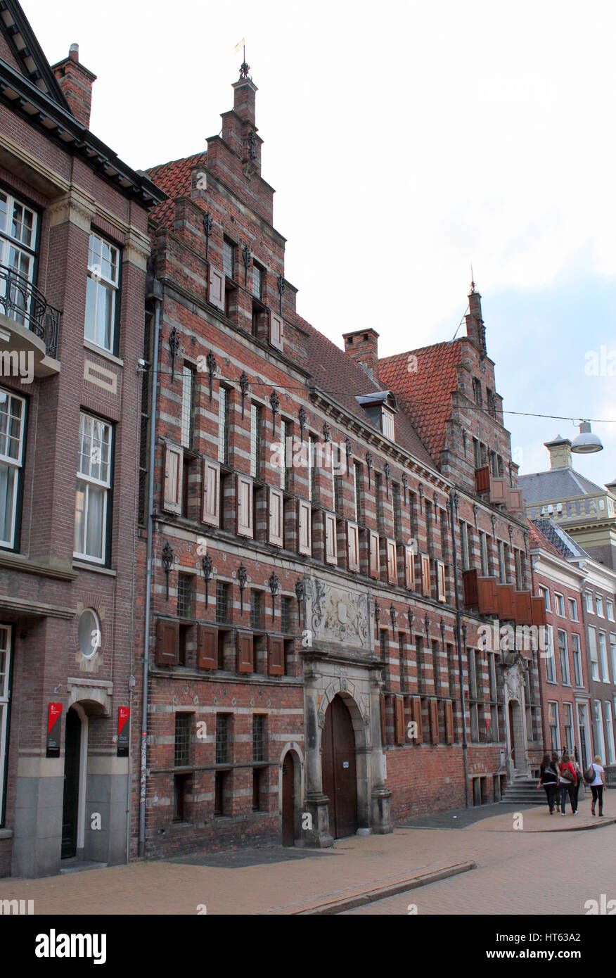 17th century Former Court of Justice at Oude Boteringstraat in Groningen, The Netherlands. Architecture in Dutch - Stock Image