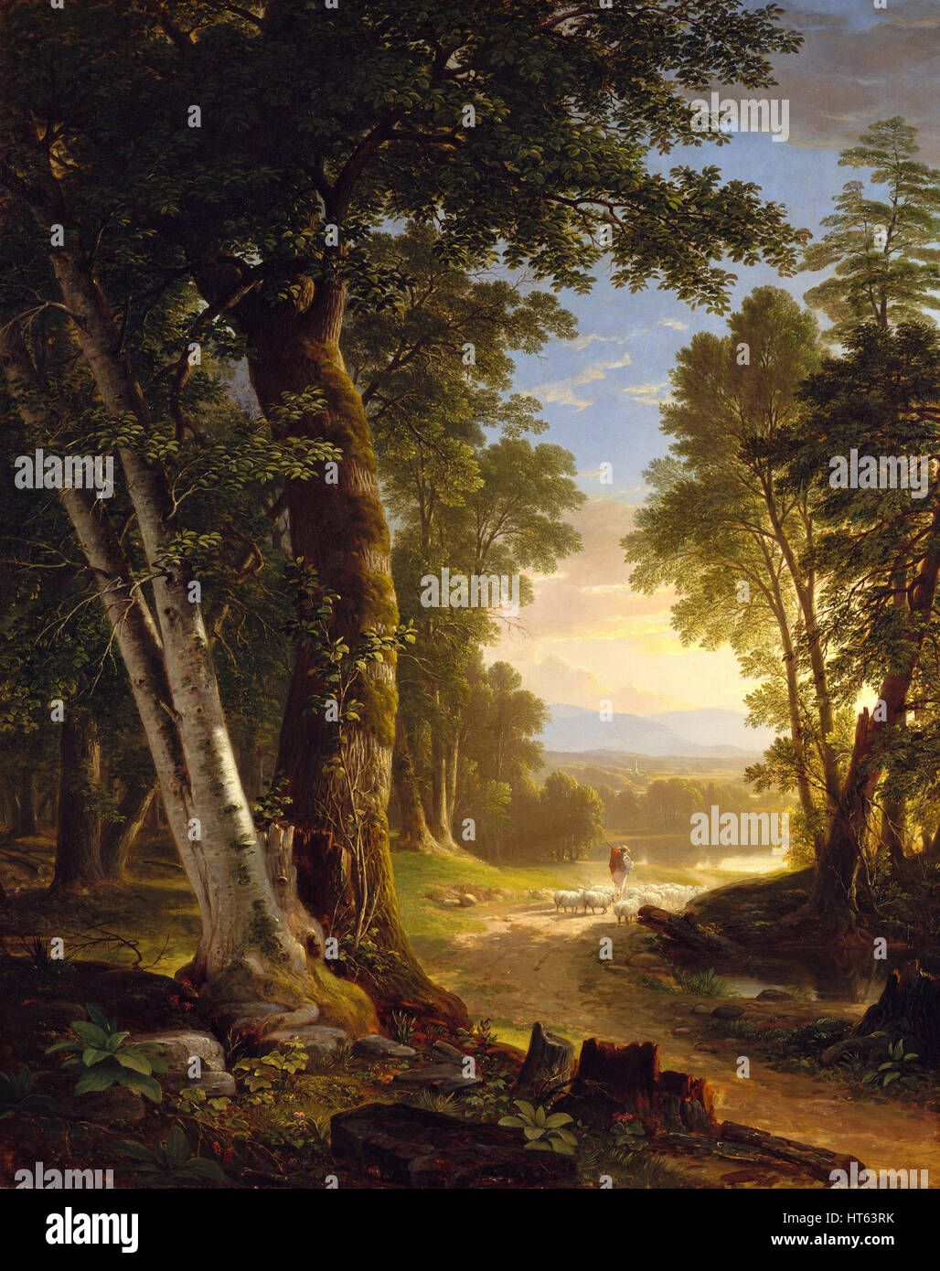 The Beeches by Asher Brown Durand - Stock Image