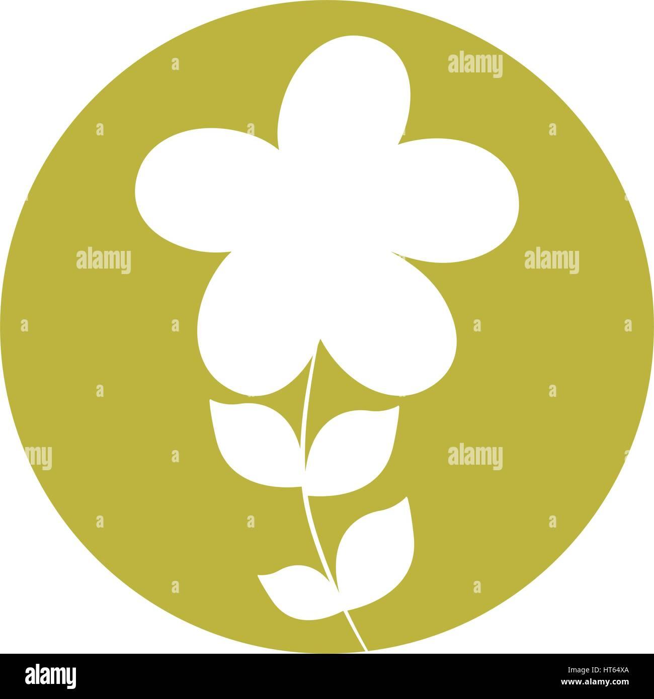 plumeria flower natural icon - Stock Vector