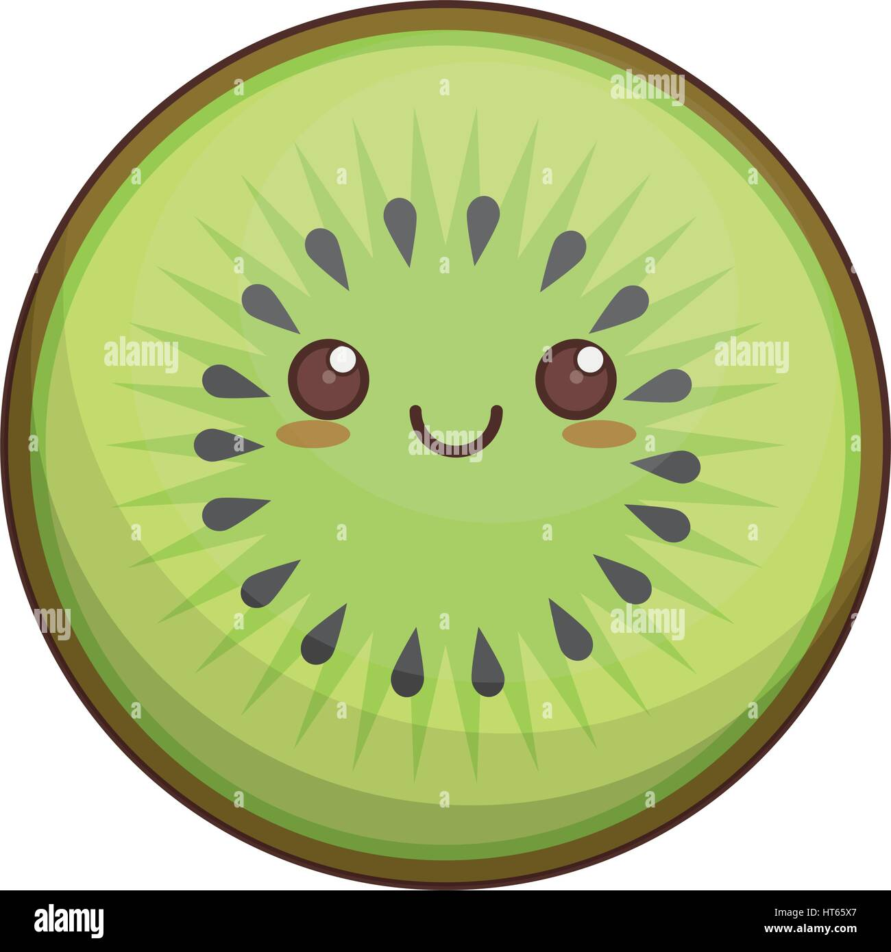 kawaii kiwi fruit icon stock vector art   illustration  vector image 135360687 alamy fruit clipart fruit clipart black and white