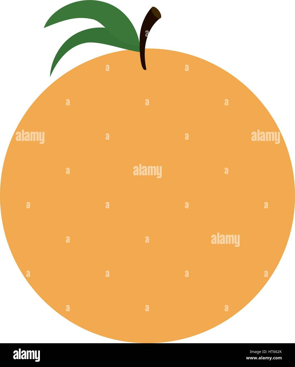 ornage sweet fruit icon - Stock Image